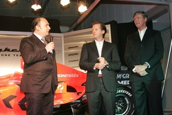 MD and Team principal Colin Kolles, Director Spyker Formula One Team Michiel Mol and Chief Executive Officer Victor Muller