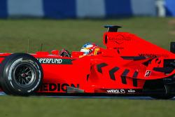 Adrian Sutil tests the 2007 Spyker-Ferrari F8-VII