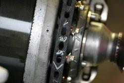 Renault F1 Team R27 brake system