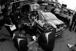 Red Bull Toyota crew members at work