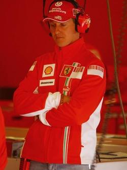 Michael Schumacher attends F1 testing