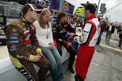 David Gilliland with wife Michelle, Boris Said and Robby Gordon