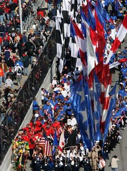 Flags during pre-race ceremony