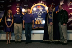 Crown Royal 'Your Name Here 400' contest: Jamie McMurray with the winner