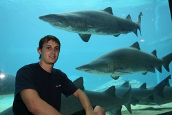 Oliver Jarvis at the Ushaka Marine World Shark tank