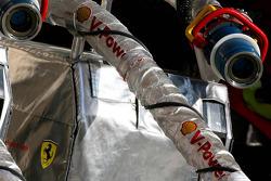 Scuderia Ferrari refueling hose