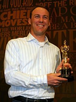 Kevin Harvick makes a media appearance at Hollywood and Highland