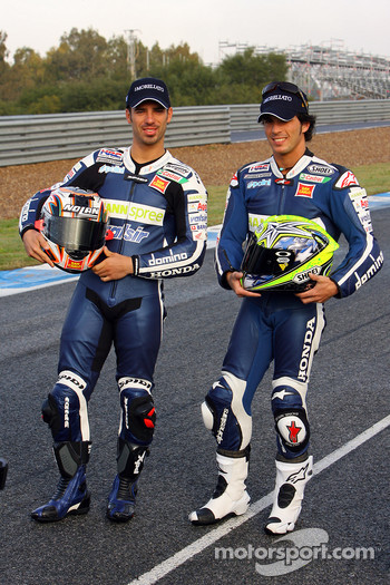 Team Gresini: Toni Elias and Marco Melandri