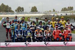 MotoGP riders photoshoot