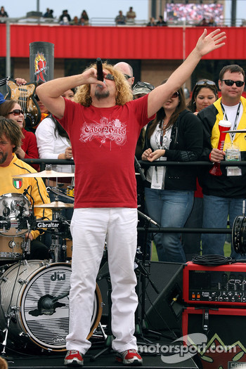 Sammy Hagar sings