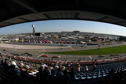 A view of the practice action from the grandstands