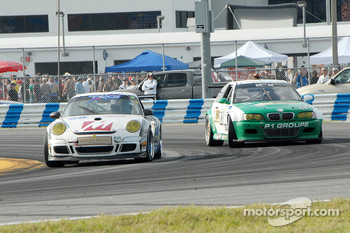 #68 TRG Porsche GT3 Cup: Ted Ballou, Rocco DeSimone II, Brad Jaeger, Chris Gleason, #21 Matt Connolly Motorsports BMW M3: Matt Connolly, Romeo Kapudija, Jason Workman