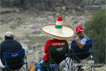 Mexican rally fans