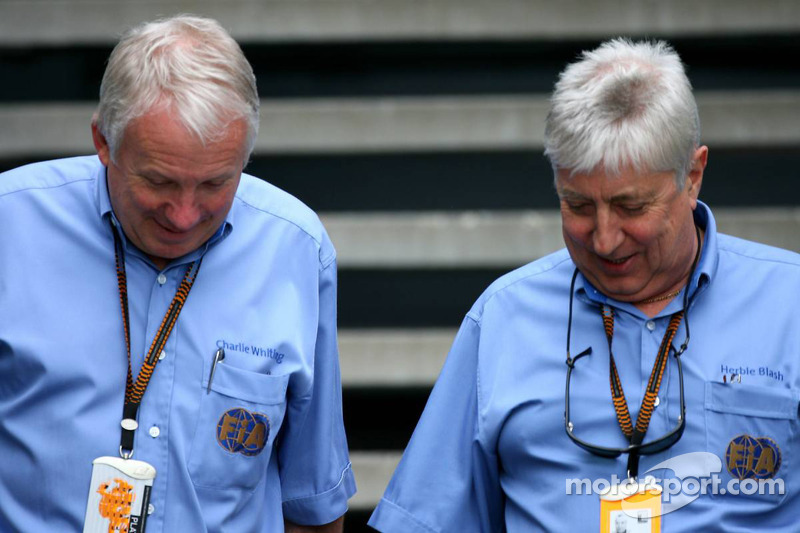 Charlie Whiting Gallery: Charlie Whiting And Herbie Blash At Australian GP