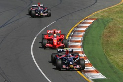 Scott Speed, Scuderia Toro Rosso, STR02 and Felipe Massa, Scuderia Ferrari, F2007
