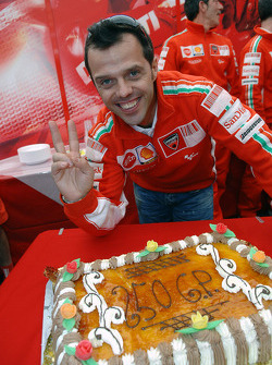 Loris Capirossi celebrates his 250th Grand Prix