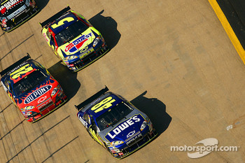 Jimmie Johnson, Jeff Gordon and Kyle Busch