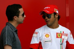 Felipe Massa, Scuderia Ferrari with his manager Nicolas Todt