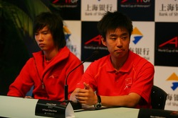 Qing Hua Ma, Driver of A1Team China with Cheng Cong Fu, Driver of A1Team China