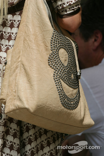 Cora Schumacher, Wife of Ralf Schumacher, bag