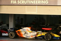 FIA Scrutineering after the race