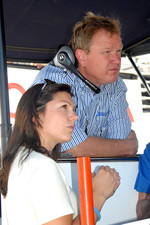 Katherine Legge and Dale Coyne