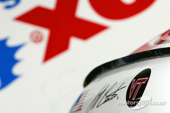 Virginia Tech memorial decal on the car of Jeff Burton