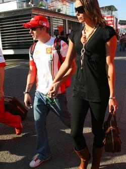 Kimi Raikkonen, Scuderia Ferrari, Jennie Raikkonen, Wife of Kimi Raikkonen