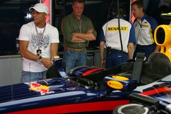 Roberto Carlos, Real Madrid, Football player in the Red Bull Racing garage