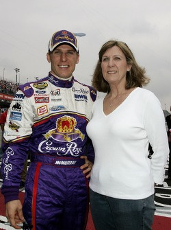 Jamie McMurray poses for a photo with his mom, Sue McMurray