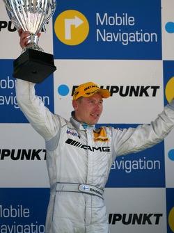 Podium: Mika Hakkinen, Team HWA AMG Mercedes