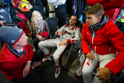 Edward Sandström, Laurens Vanthoor and Nico Müller after the last pit stop of the race