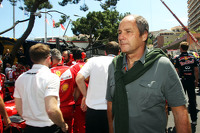 Gerhard Berger, on the grid