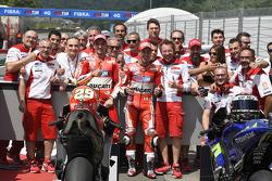 Polesitter Andrea Iannone and third place Andrea Dovizioso, Ducati Team