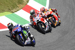 Jorge Lorenzo, Yamaha Factory Racing and Andrea Dovizioso, Ducati Team and Marc Marquez, Repsol Honda Team