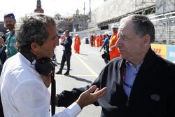 Alain Prost, e.dams-Renault Formula E Team and FIA President Jean Todt