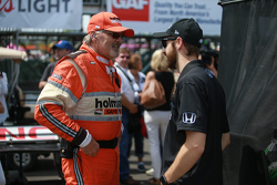James Hinchcliffe is reunited with a member of the Holmatro Safety Team