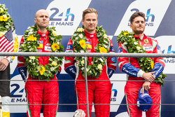 LMGT Pro podium: third place #51 AF Corse Ferrari 458 GTE: Gianmaria Bruni, Toni Vilander, Giancarlo Fisichella