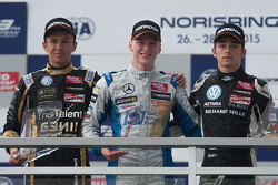 Podium: second place Alexander Albon, Signature and winner Maximilian Gunther, Mücke Motorsport and third place Charles Leclerc, Van Amersfoort Racing