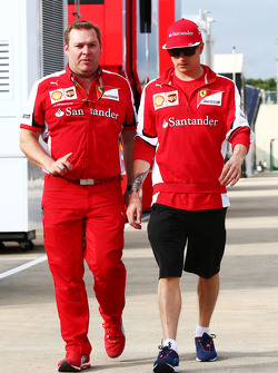Dave Greenwood, Ferrari Race Engineer with Kimi Raikkonen, Ferrari