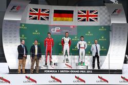 Podium: second place Emil Bernstorff, Arden International and winner Marvin Kirchhofer, ART Grand Prix and third place Matthew Parry, Koiranen GP