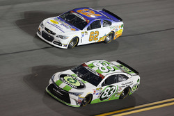 Brendan Gaughan, Richard Childress Racing Chevrolet and Matt Dibenedetto, BK Racing Toyota
