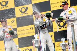 Podium: second place Antonio Felix da Costa, BMW Team Schnitzer BMW M4 DTM and winner Marco Wittmann and third place Maxime Martin, BMW Team RMG BMW M4 DTM Marco