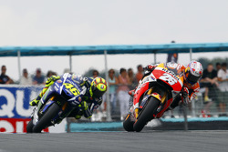 Dani Pedrosa, Repsol Honda Team and Valentino Rossi, Yamaha Factory Racing
