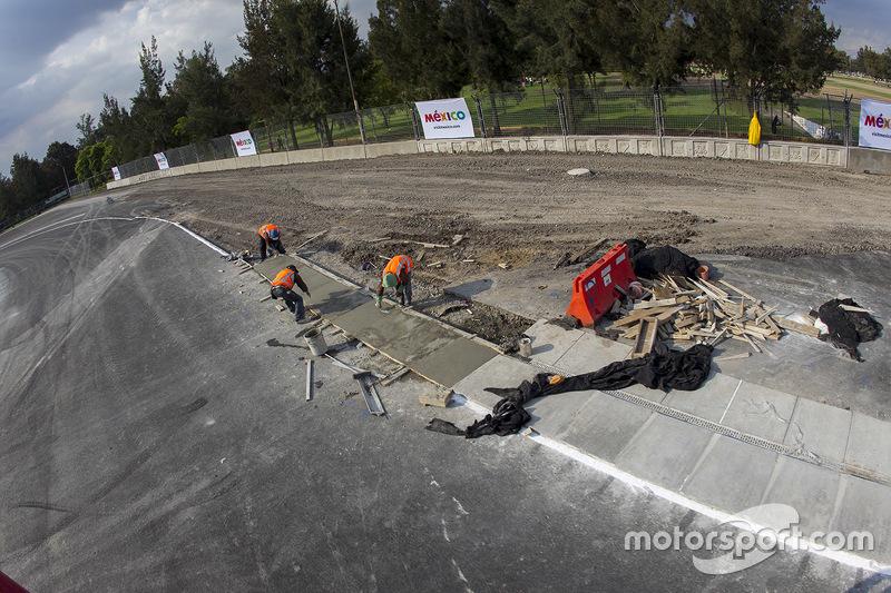 Autódromo Hermanos Rodríguez, salida zona de las eses