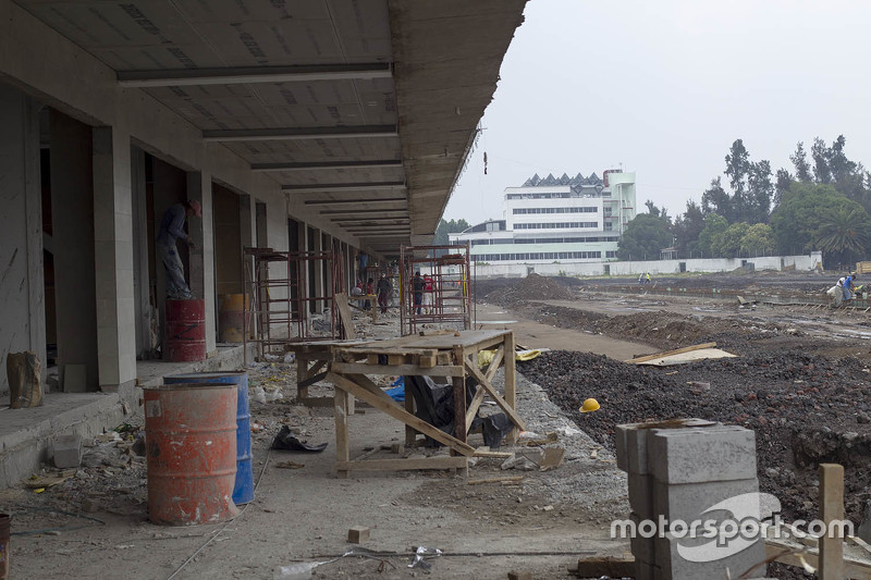 Autódromo Hermanos Rodríguez, zona de pits
