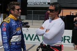 Marco Andretti, Andretti Autosport and Juan Pablo Montoya, Team Penske