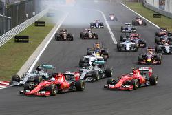 Start van de race, Sebastian Vettel, Scuderia Ferrari