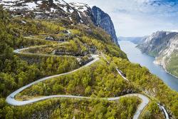 Famous Lysevegen road