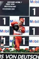 Winner Rubens Barrichello, Ferrari